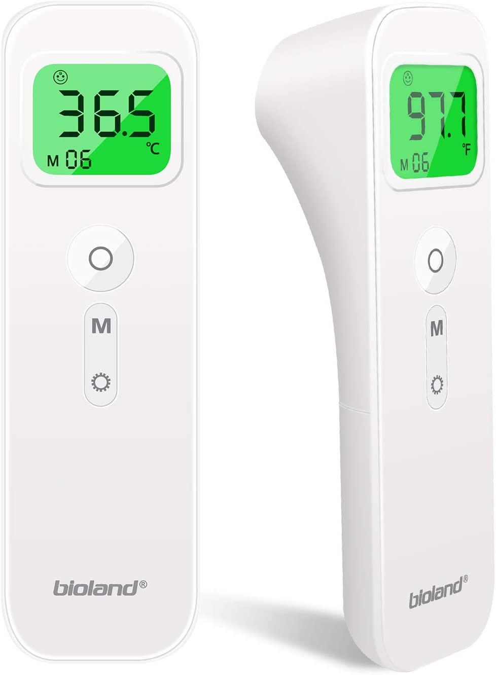 Termometro febbre infrarossi fronte senza contatto per adulti/bambini,termometri digitali frontale per febbre corporeo scanner con allarme